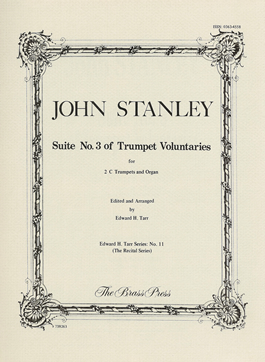 Stanley / Tarr - Suite No. 3 of Trumpet Voluntaries (Brass Press